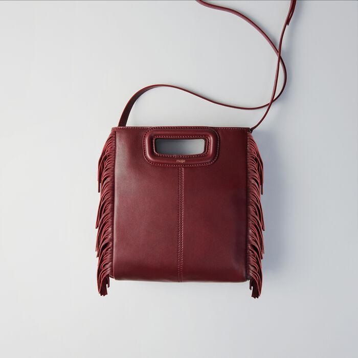 Leather M bag : Borse M colore Bordeaux