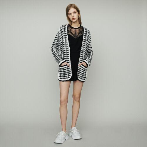 Cardigan-giacca lungo in maglia : Maglieria colore Bicolore