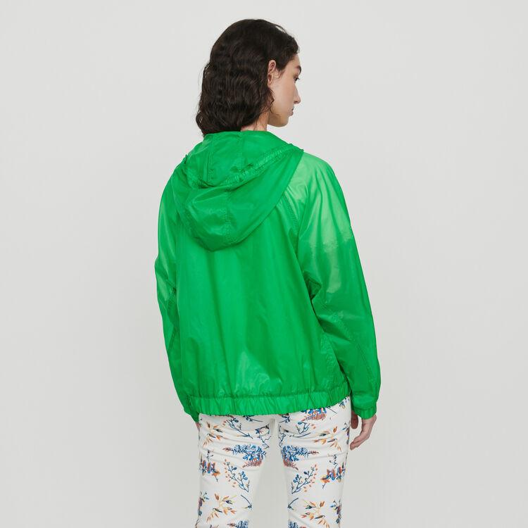 Giacca a vento leggera con cappuccio : Cappotti e Giubbotti colore Verde
