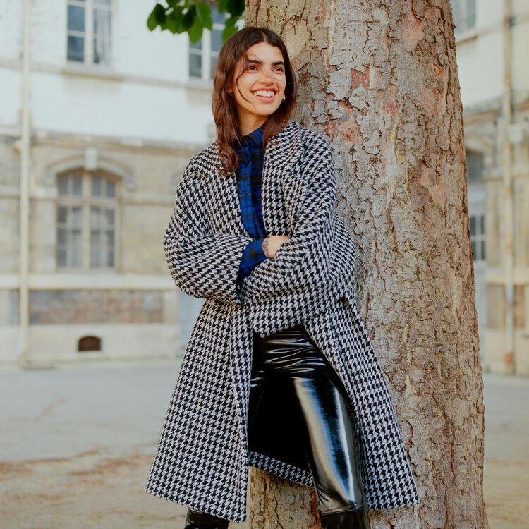 Cappotto oversize a doppia abbottonatura : Cappotti colore Jacquard