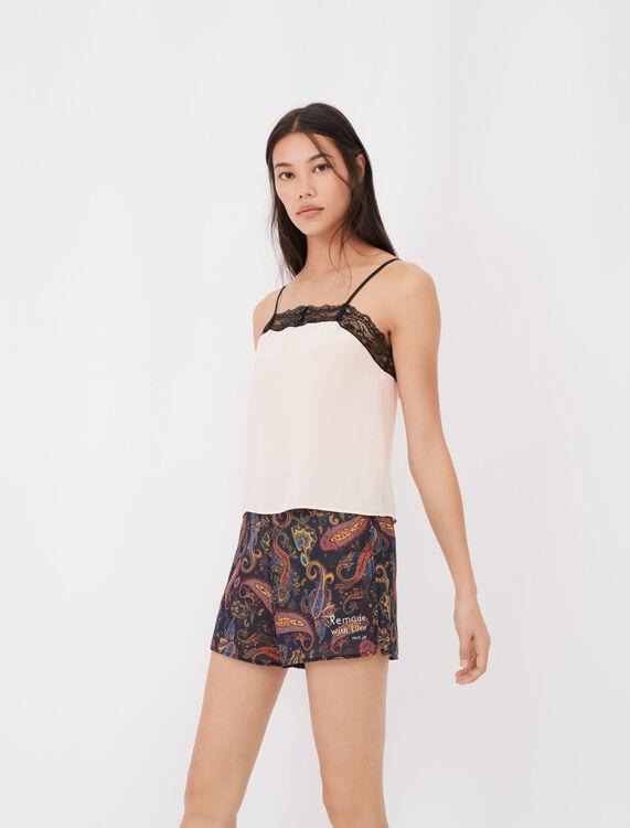 Set pigiama stampato con pizzo - eco-sostenibile - MAJE