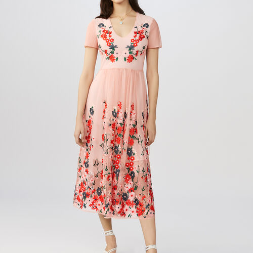 Long dress embroidered : Vestiti colore Nero