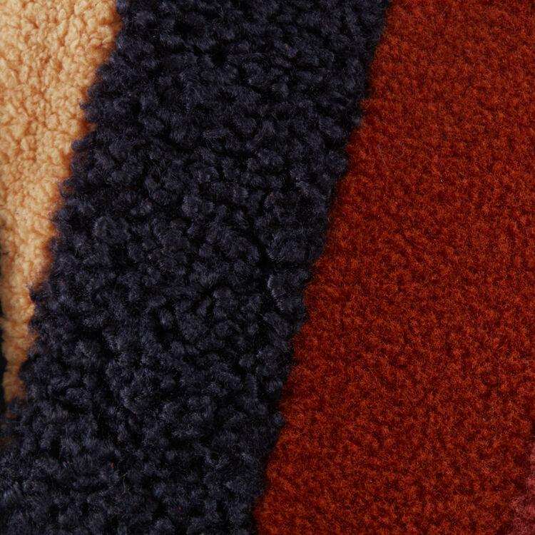 Borsa M in pelle e shearling : Borse M colore Multicolore
