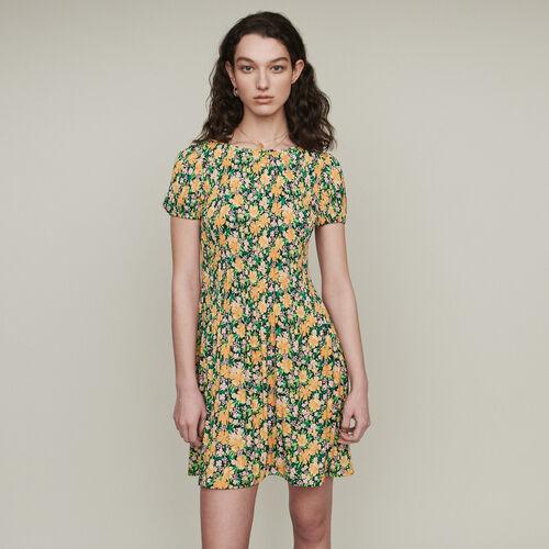 Vestito plissettato con stampa floreale : Vestiti colore IMPRIME
