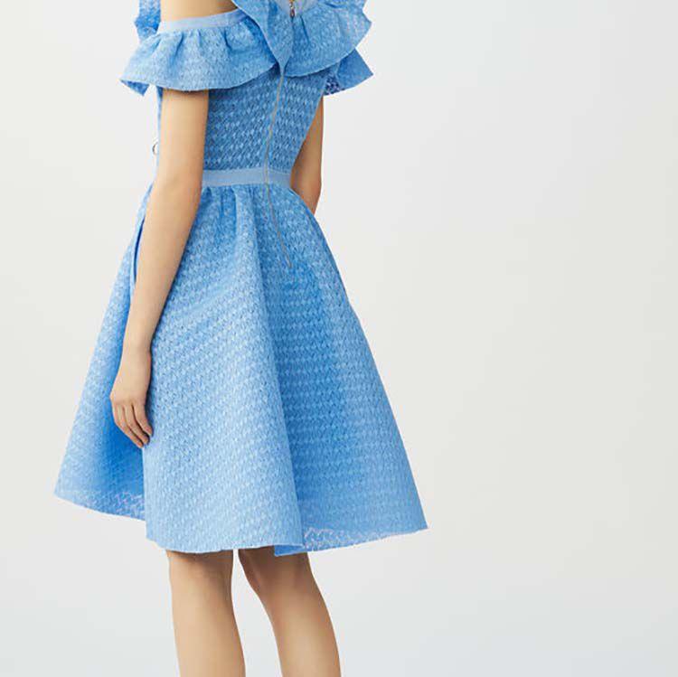 Vestito senza maniche in maglia tecnica : Vestiti colore Blu