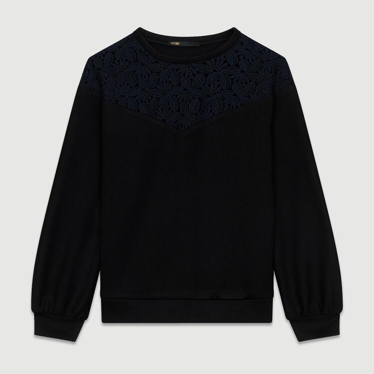 Felpa con pizzo : Sweatshirts colore