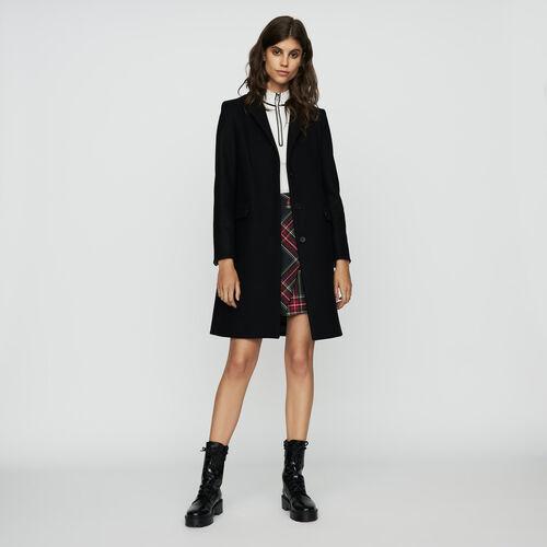 Cappotto dritto in lana vergine : Cappotti colore Nero