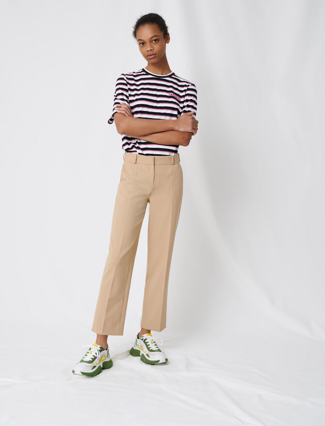 Pantaloni da tailleur beige - Pantaloni e Jeans - MAJE