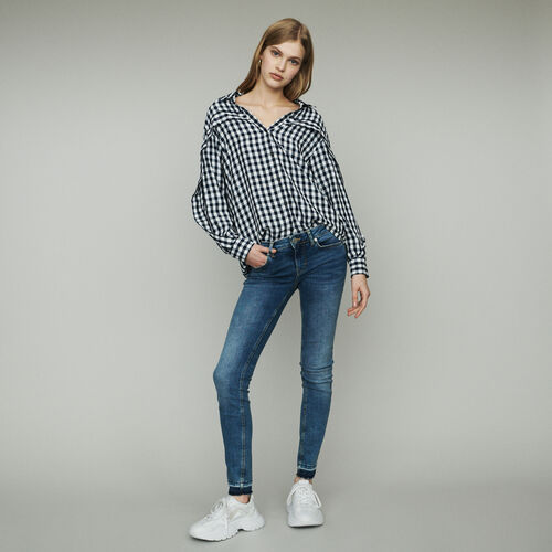 Camicia stampata vichy : Tops e Camicie colore CARREAUX