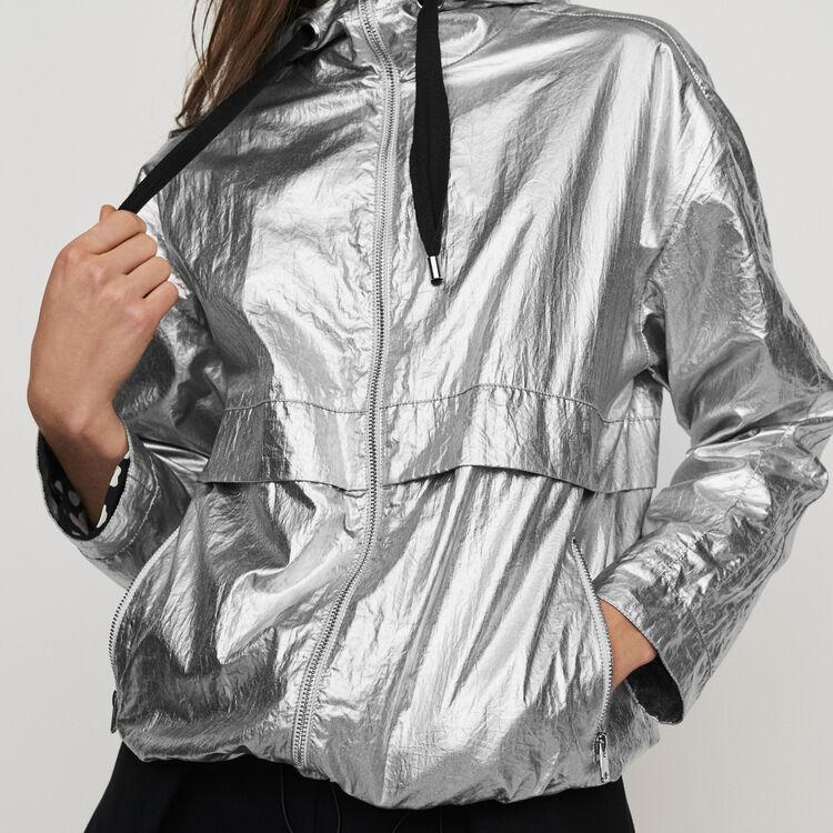Giacca a vento con cappuccio : Cappotti e Giubbotti colore Argento