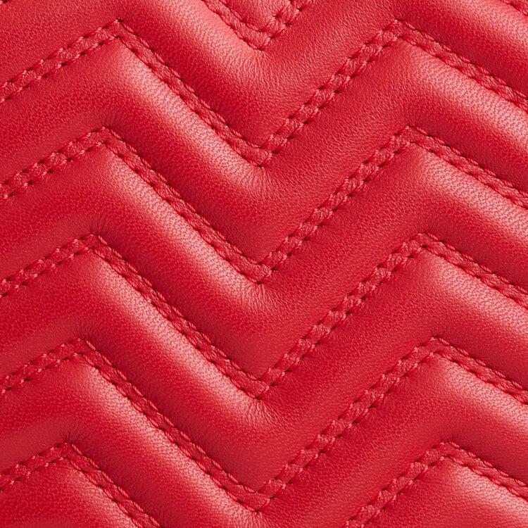 Borsa a tracolla in pelle matelassé : Vedi tutto colore Rosso