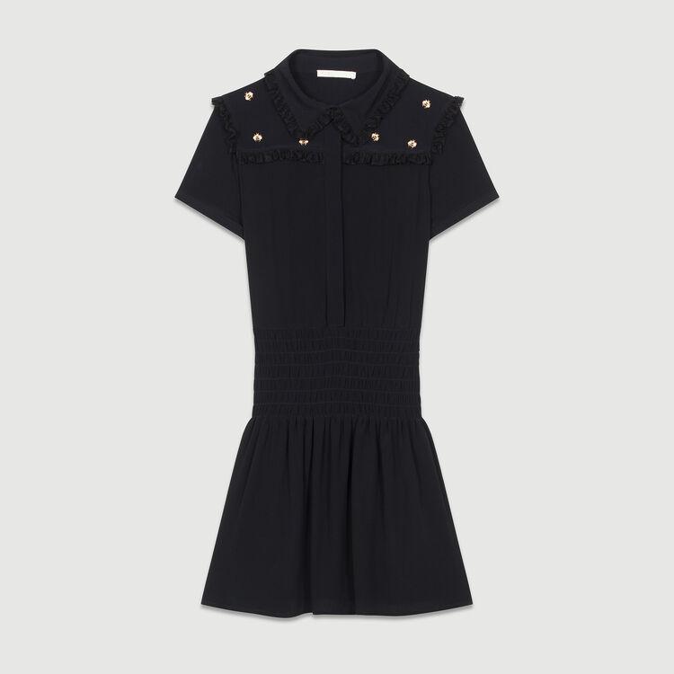 Dress embroidered bees : Vestiti colore Nero