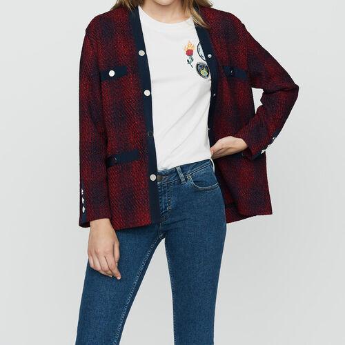 Giacca in maglia stile tweed : Prêt-à-porter colore CARREAUX