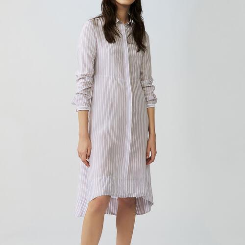 Vestito scamiciato asimmetrico a righe : Vestiti colore A Righe