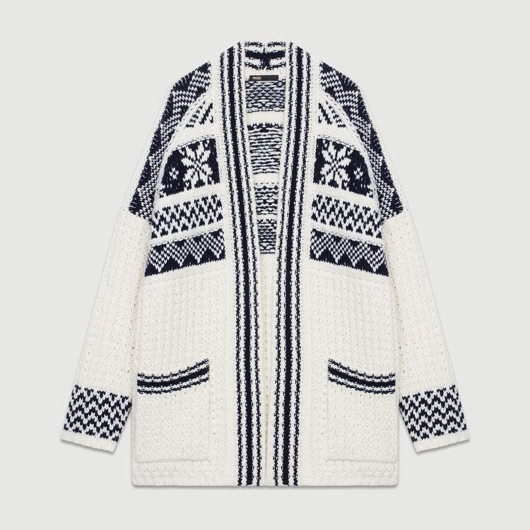 Gilet oversize in maglia jacquard : Urban colore ECRU