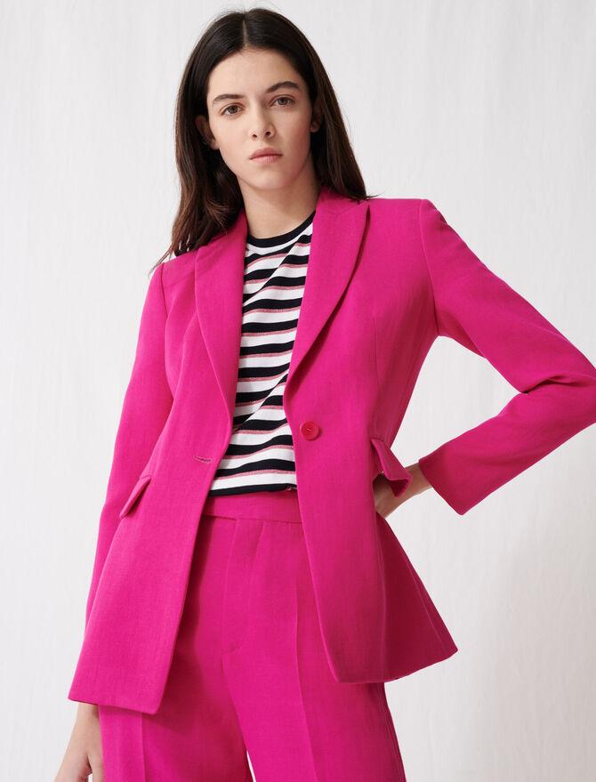 Giacca da tailleur rosa fucsia -  - MAJE