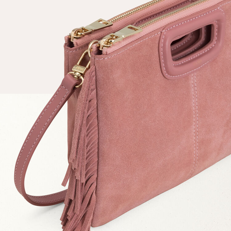 Pochette M Duo in sude : M Duo colore Rosa