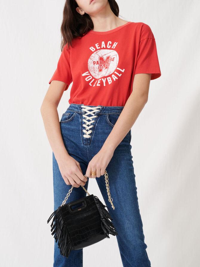 Jeans in denim blu da allacciare - Pantaloni e Jeans - MAJE