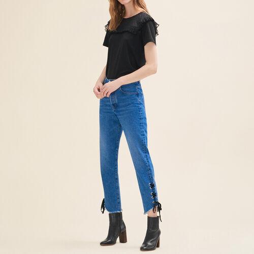 Jeans corto linea boyfriend - Jeans - MAJE