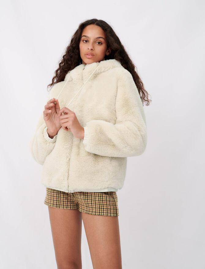 Piumino con cappuccio finta pelliccia - Cappotti e Giubbotti - MAJE