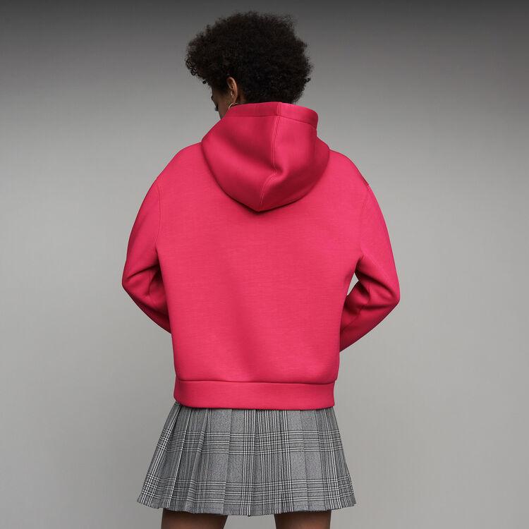 Felpa oversize con cappuccio : Prêt-à-porter colore Fucsia