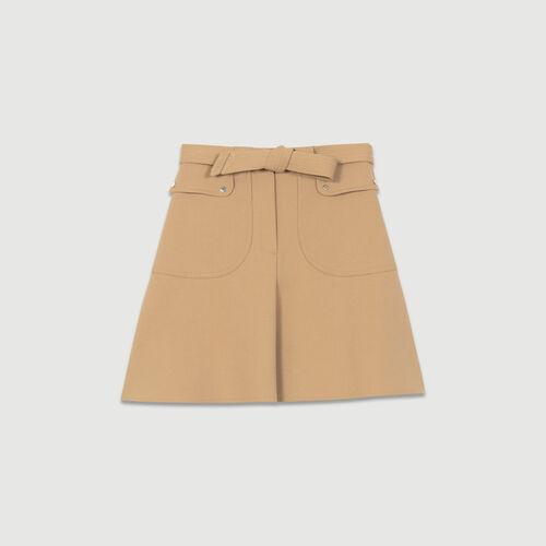 Gonna con cintura da annodare : Gonne e shorts colore Cammello