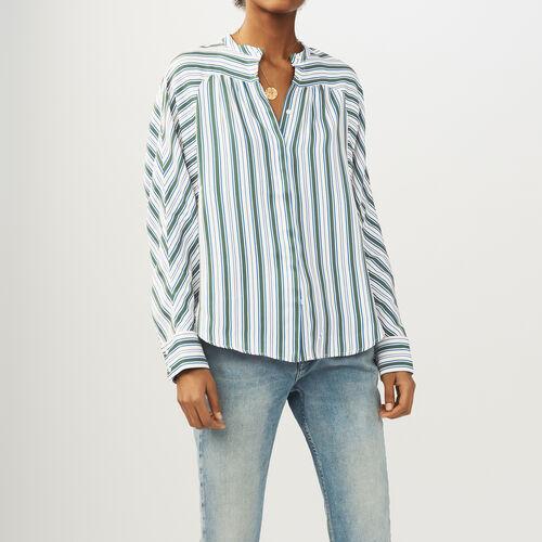 Camicia oversize a righe : Camicie colore Stampato
