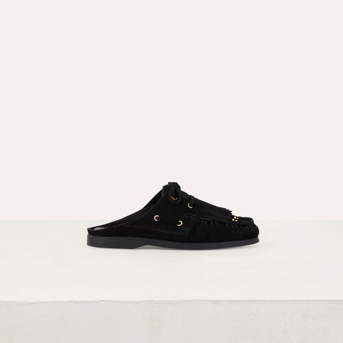Float shoes in suede : Scarpe piatte colore NERO