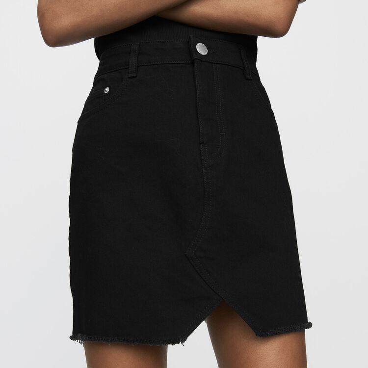 Gonna di jeans corta : Nuova Collezione colore Nero