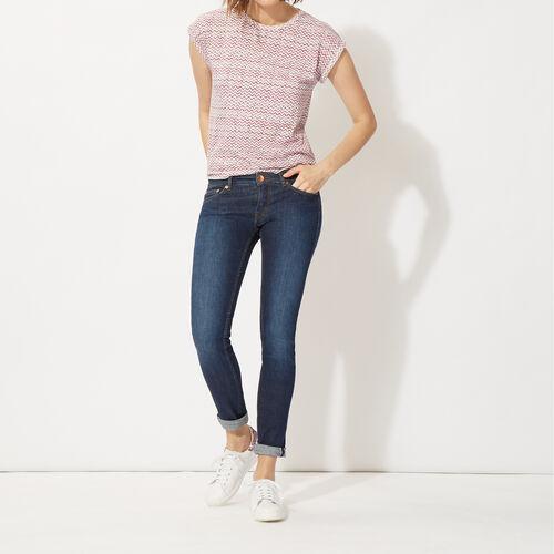 Jeans slim denim in cotone stretch : Pantaloni & jeans colore Denim