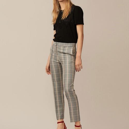 Pantaloni dritti a quadri - Pre-collezione - MAJE