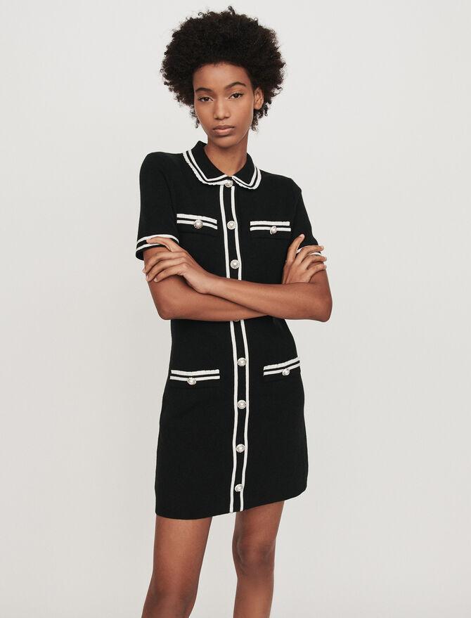 Vestito dritto con dettagli gioiello - Vestiti - MAJE