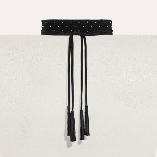 Cintura alta da annodare con borchie - Cinture - MAJE
