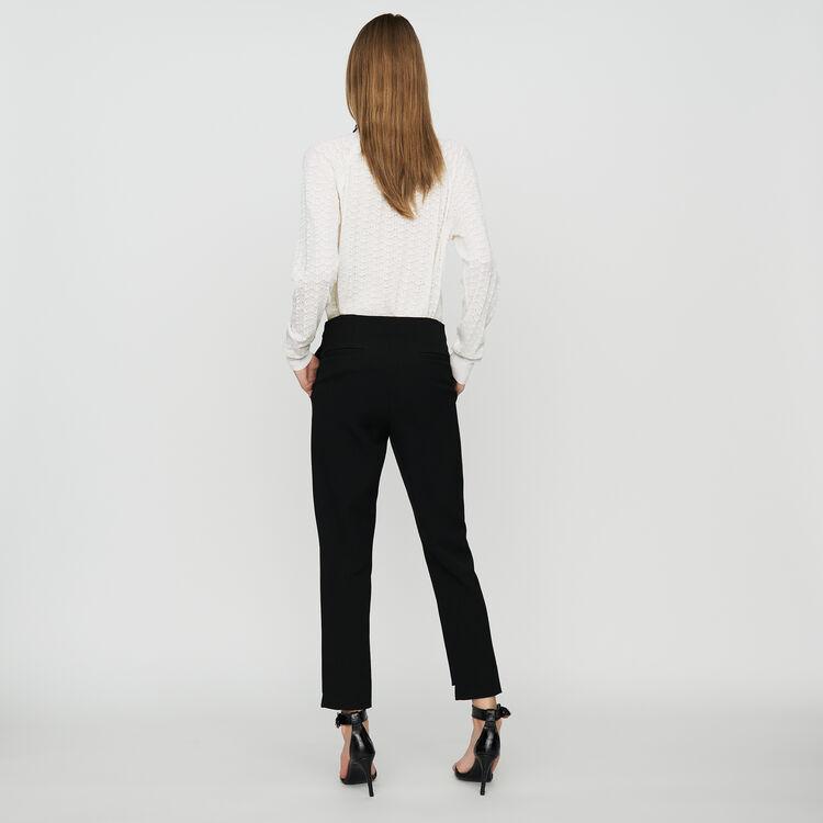 Pantalone dritto in crêpe : Prêt-à-porter colore Nero