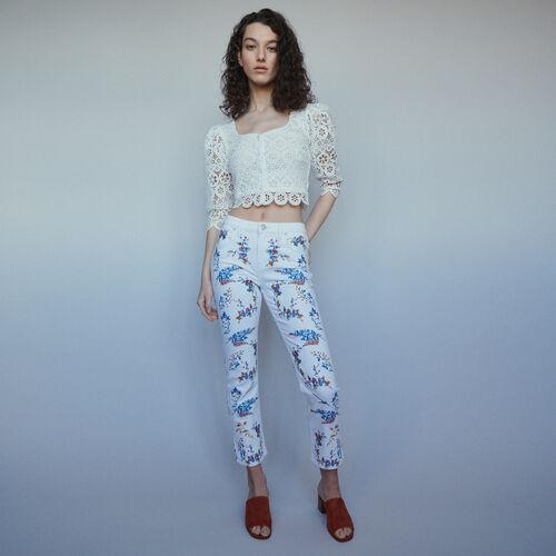 Jeans dritti con ricami : Pantaloni e Jeans colore Multicolore