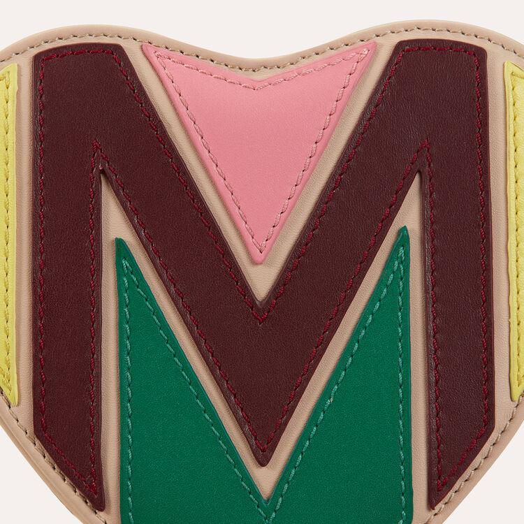 Bisaccia cuore in pelle matelassé : null colore Multicolore