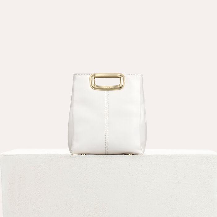 Clutch M Mini Skin in pelle : M Mini colore Bianco