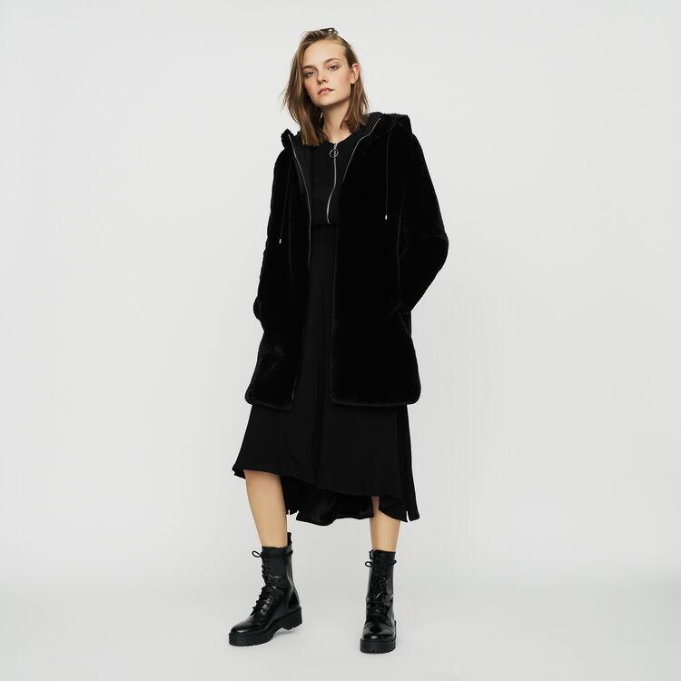 Giubbotto in finta pelliccia : Cappotti colore Nero