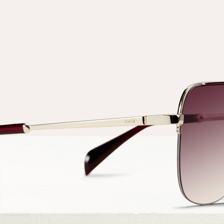 Occhiali da sole modello aviatore : Occhiali colore Bordeaux