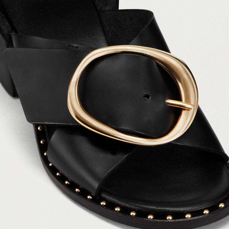 Sandali con tacco con doppio cinturino : Scarpe colore Nero