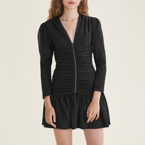 Abito corto drappeggiato : Vestiti colore Nero