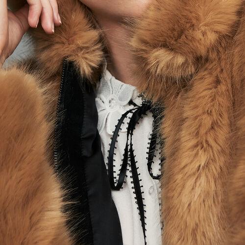 Giubbotto corto in finta pelliccia : Giubbotti colore Cammello
