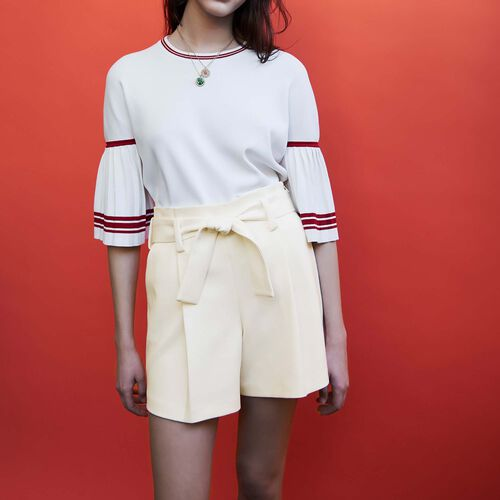 High waisted short : Gonne e shorts colore Bianco
