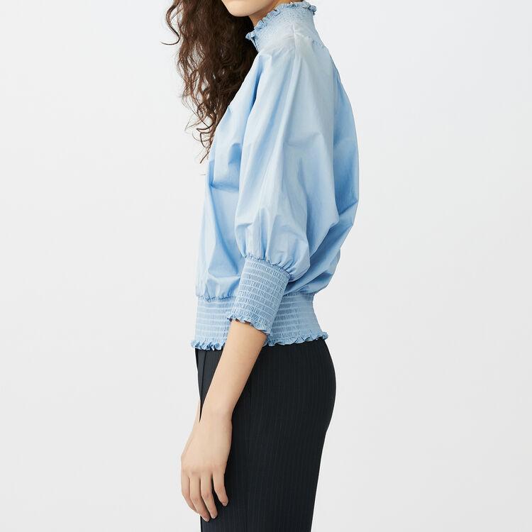 Camicetta in popeline di cotone : Tops colore Blu