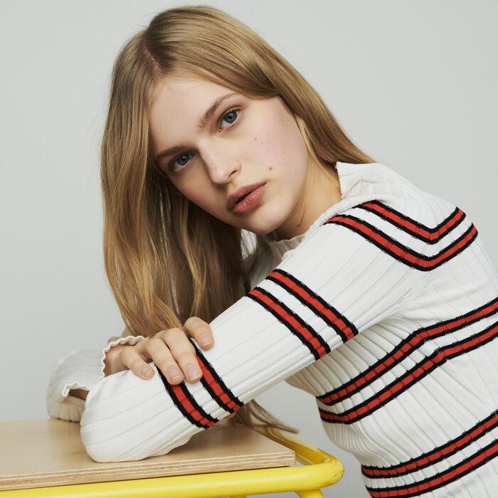 Pull fine in maglia rigata : Maglieria colore A Righe