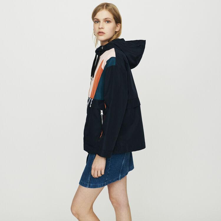 Giacca a vento multicolore : Cappotti e Giubbotti colore Blu Marino