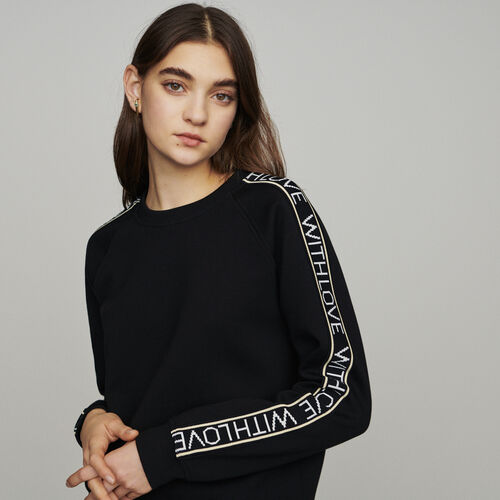 "Sweat ""With Love"" on sleeves : Sweatshirts colore Nero"