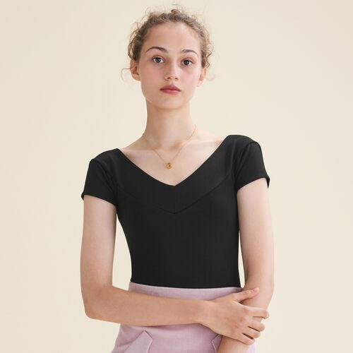 Body a maniche corte : T-Shirts colore Nero