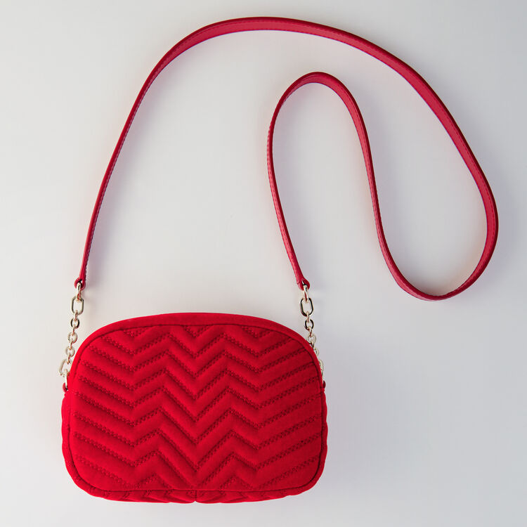 Quilted velvet shoulder bag : Sami bag colore Rouge