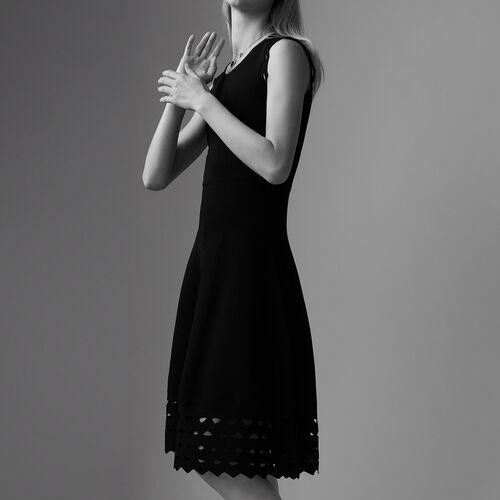 Vestito in maglia con ricami : Vestiti colore Nero